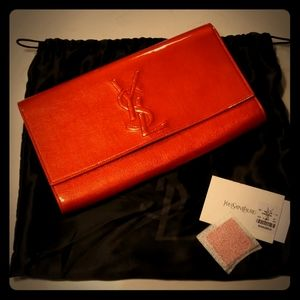YSL Belle Du Jour Patent Leather Clutch
